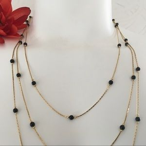 FREE Earrings to match Gold Chain Necklace Vintage